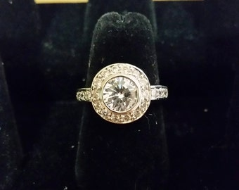 Silvertone and CZ ring