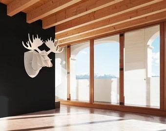 Wood Hunting Trophy - Moose