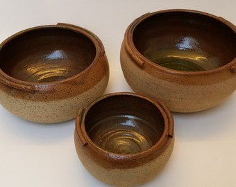 Handmade, Brown, Earth, Ceramic bowls, pottery, Mediterranean, serving bowls, set