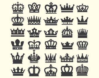 Crown Clipart, Crown Clip Art, Queen Crown, King Crown, Princess Crown Clipart PNG & Vector EPS, AI Design Elements Instant Download