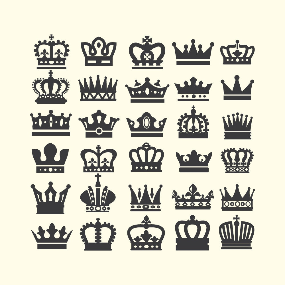 Royal crown clipart | Etsy