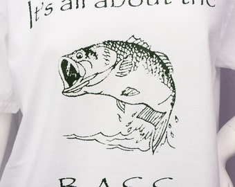 It's All About The Bass screen printed tshirt