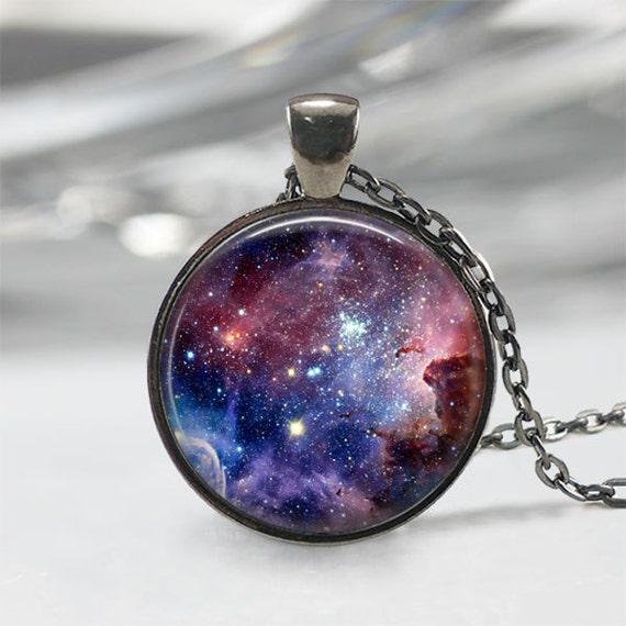 Carina Nebula Galaxy Necklace Carina Necklace Galaxy Jewelry