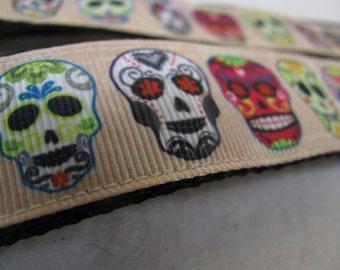 Dia De Los Muertos Sugar Skulls Calavera - Dog Leash