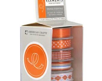 American Crafts - Essentials Ribbon - American Orange