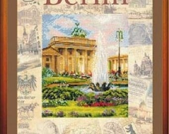 """Cross Stitch Kit by RIOLIS """"Cities of the World. Berlin »"""