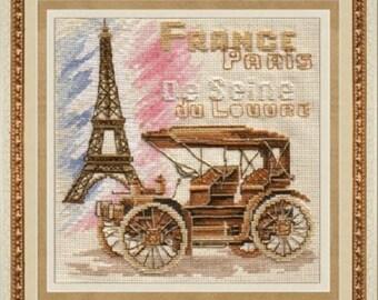 Cross Stitch Kit By Golden Hands - Paris