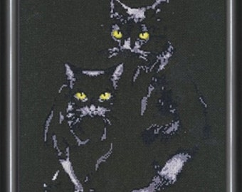 Cross Stitch Kit by Golden Fleece - Cats