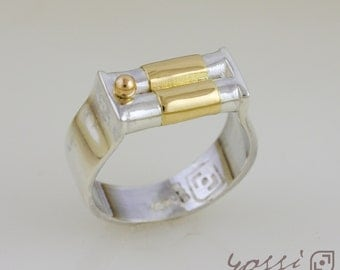 18ct Yellow Gold and Silver Wedding Ring