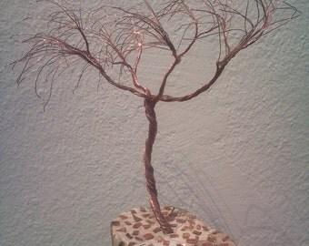 Wood wire tree  sculpture