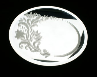Etched Mirror for candles
