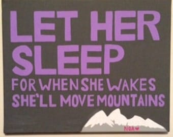 Let Her Sleep Canvas