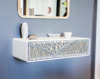 Wall console Collection Lal, Metal and wood.  Iron Steel and wood.