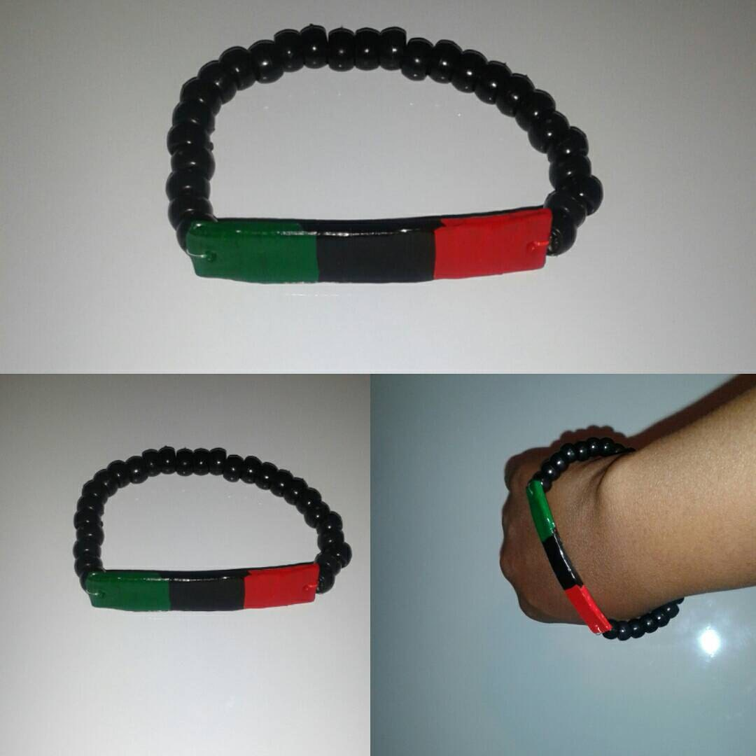 Red black and green wear your pride bracelet for Red black and green jewelry