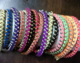 Woven Chain Braceletes