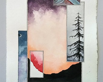 Watercolor Painting-Pacific NW Series 203