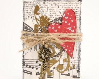 Mixed Media Decoration: Key to my Heart II.