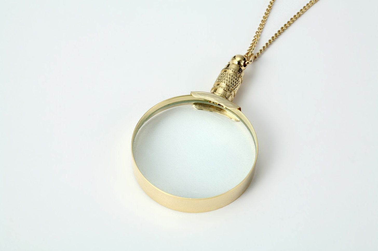 5x gold magnifying glass necklace pendant magnifier by