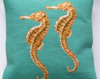 Seahorses tapestry kit / needlepoint kit
