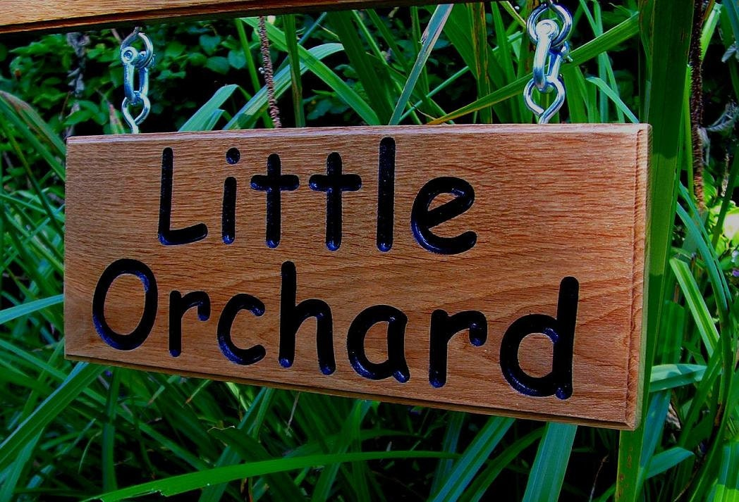 Oak Wood Signs ~ Wooden signs double sided oak hanging engraved house