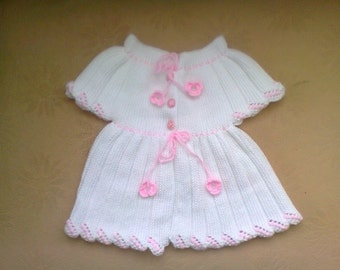 Hand Knitted Fancy Baby Vest