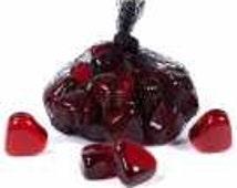 "Glass Gems Red Glass Heart 1"" Quantity 10"