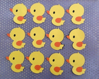 12 Duck cupcake topper babyshower decor