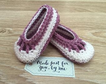 Crochet Baby Girl Cupcake Ballerina, Baby Shower Gift, Baby Booties in a Box