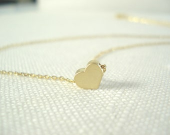 Personalized Tiny simple heart  necklace....hand stamped bridal jewelry, bridesmaid gift, flower girl, wedding, everyday minimalist  pendant