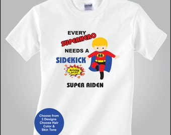 Personlized Big Brother Shirt Super Hero Big Brother Birth Announcement Shirt