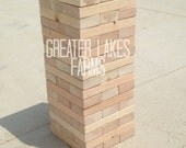 Backyard Giant Jenga -Sanded (Giant jenga, backyard jenga, wedding game, wedding guest book, outdoor jenga)