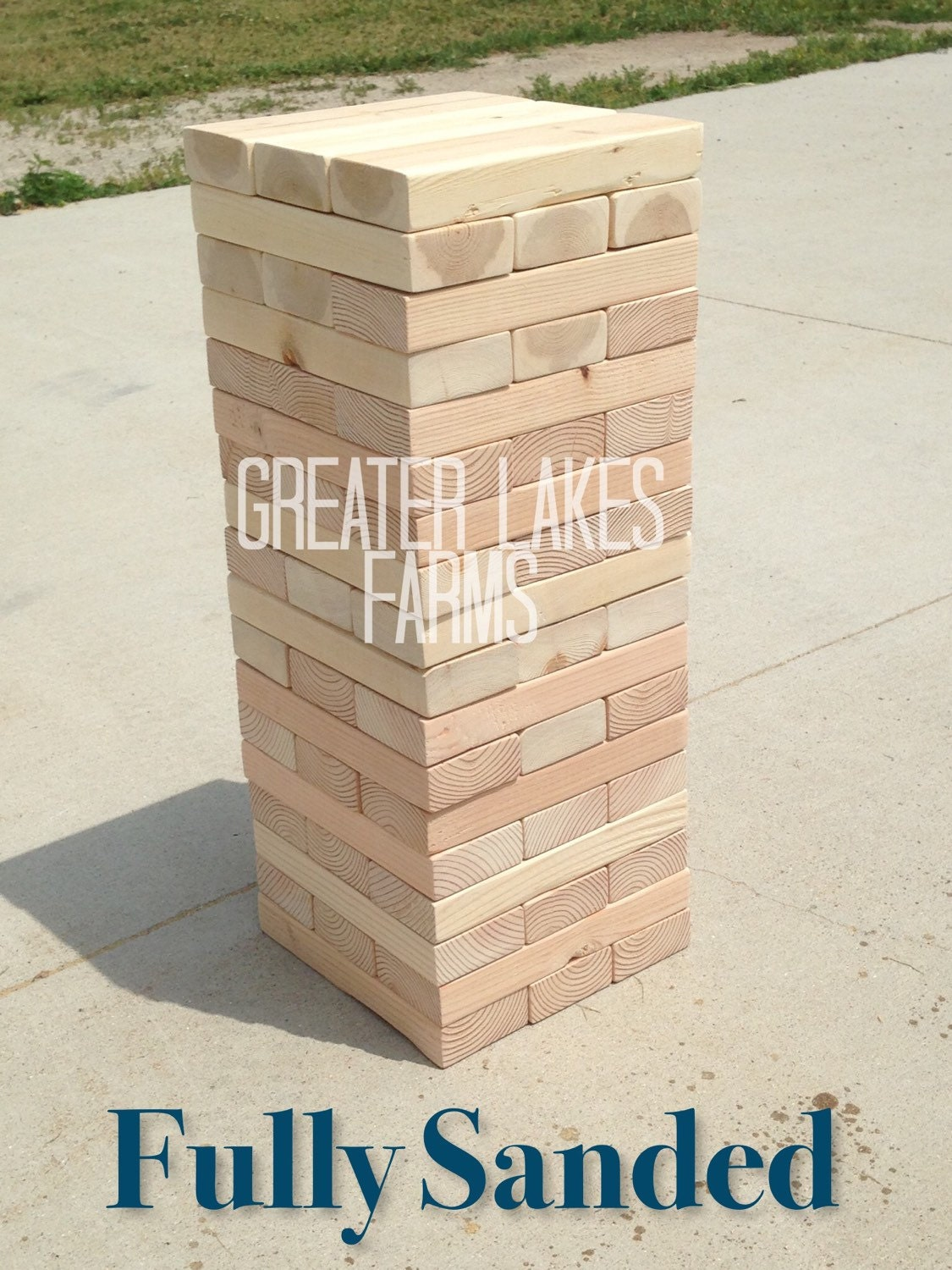 Giant Jenga Inspired Tower Large Sanded Ready to Ship