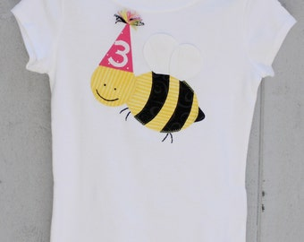 Birthday Queen Bee Party Hat Tee