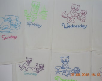 Embrodery Dish Towels set of 7