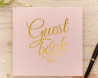 Sparkly Gold Guest Book
