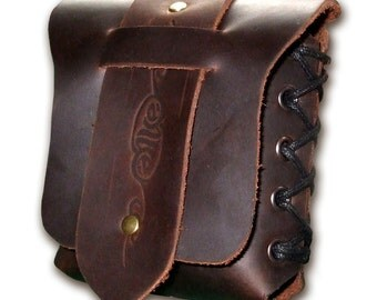Handmade Leather Belt Pouch / Cigarette Pouch