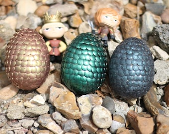 3 handmade game of thrones inspired dragon eggs