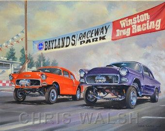 "Fine Art prints ""Baylands Raceway Park"" by artist Chris Walsh"