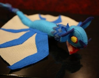 the blue monster plushie Azul