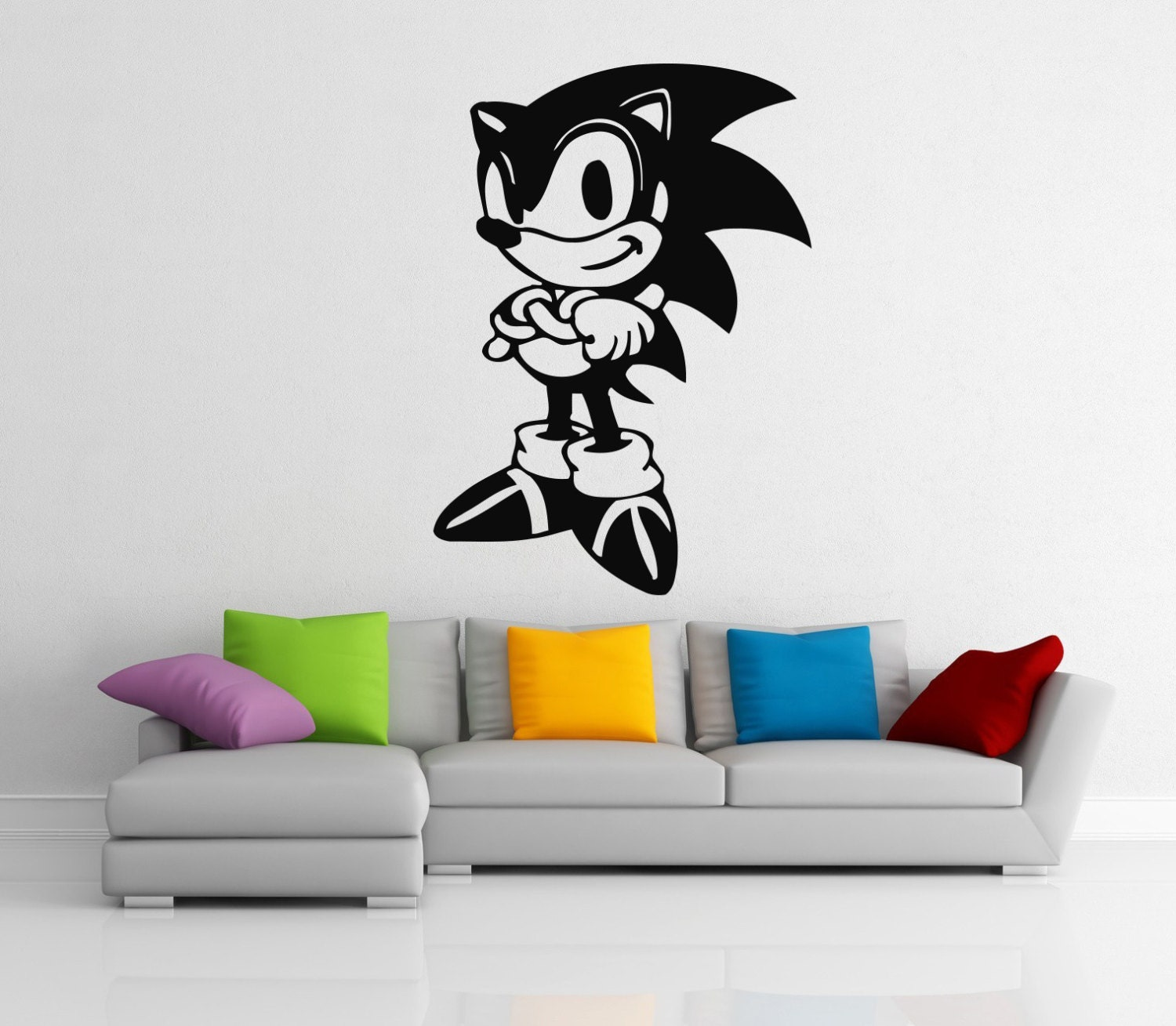Sonic the hedgehog stickers wall vinyl decals home interior - Sonic wall decals ...