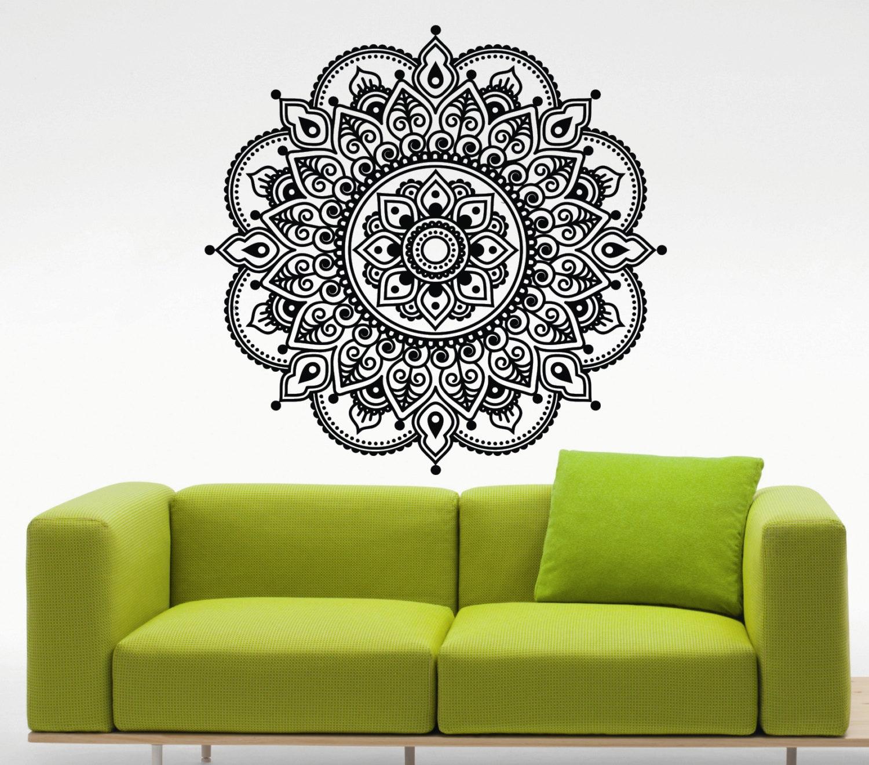 Mandala Wall Decal Lotus Flower Namaste Indian Vinyl Sticker