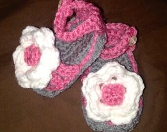 Baby girl flower sandal