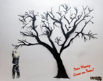 Does Money Grow on Tress? - On Canvas 70cm x 90cm