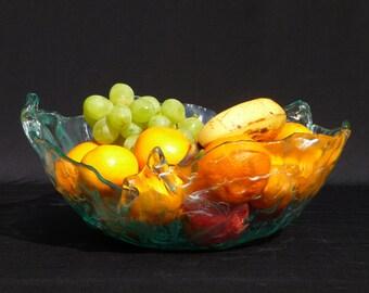Glass Fruit/Salad Bowl
