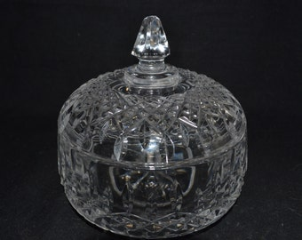 Galway Irish crystal heavy lidded dish