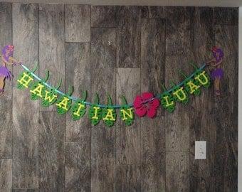 Hawaiian Luau Paper Banner