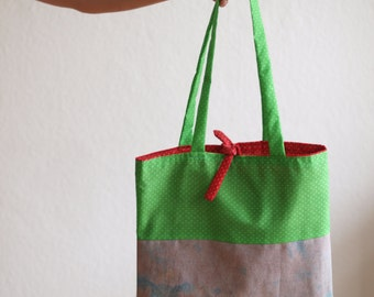 Messenger bag shoulder bag reversible cotton bag