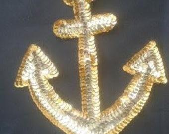 Sequins Anchor Applique