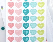40 Cute love heart planner stickers, love, date night, calendar, diary, journal, agenda, school stickers, reminder, period tracker, S1HRT2