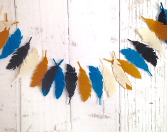 Feather | Banner | Garland | Kids Room | Nursery Decor | Tee Pee Decor | Photo Prop